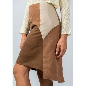 🎇Host Pick🎇 Boho Brown Faux Suede Skirt